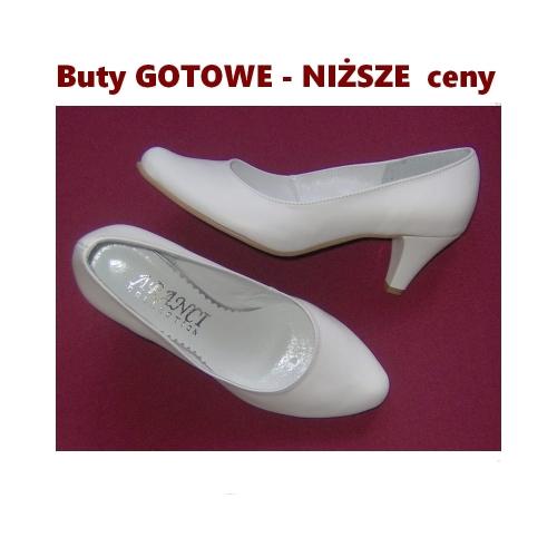 8ae63273 JESIENNE CENY Butów Gotowych -A 1450 skóra naturalna biała / rozmiar 35 -  buty wypadają lekko większe