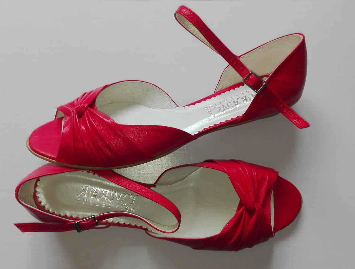 AF 1503 sandałki pięta muszelka z paskiem + różne ozdoby skóra naturalna różne wysokości obcasów rozmiar 41 46